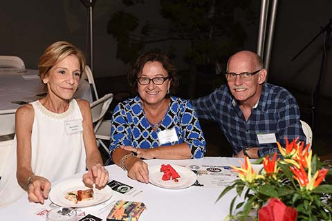 Volunteers Mary Gachot, Betty Scrivanich, Chris Gachot