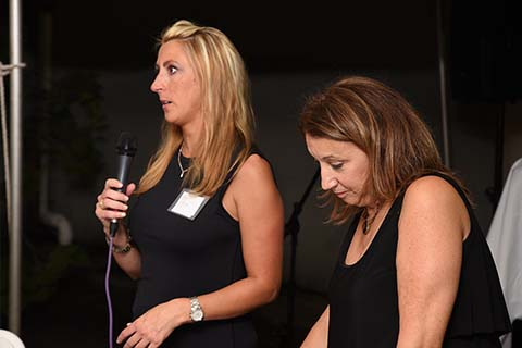 Survivor Kristen shares her story with Founder Karen Arakelian and the 2018 Taste of Italy guests.