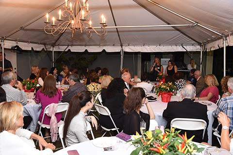 Taste of Italy guests enjoying the music and food!