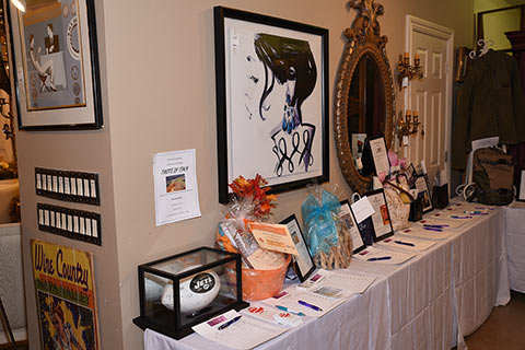 Silent Auction items donated by local businesses